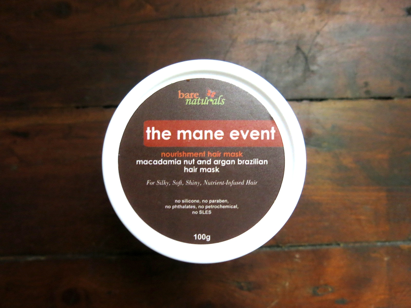 Bare Naturals The Mane Event Nourishing Hair Mask in Oat Protein, Macadamia Nut and Argan Brazilian